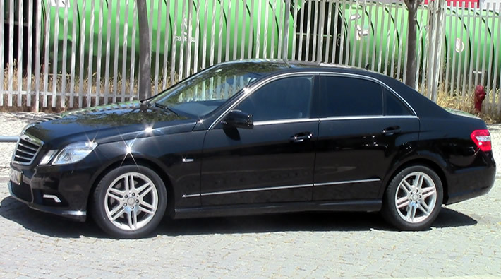 Mercedes S/E Class with driver in Portugal